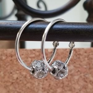 3 for $15 Silver Hoop Charm Ear…